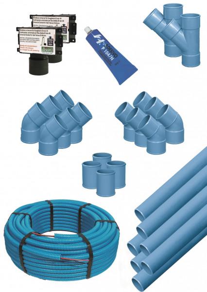 Installationskit für 2 rechteckige Saugdosen - 98002